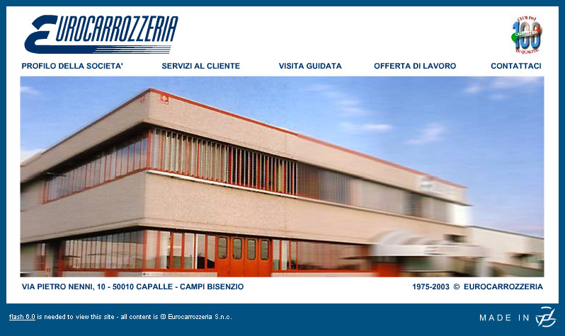 Website design del sito web eurocarrozzeria for Digital house design